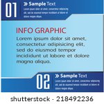 blue modern text box template... | Shutterstock .eps vector #218492236