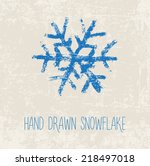 vector hand painted grungy blue ... | Shutterstock .eps vector #218497018