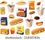 vector illustration of various... | Shutterstock .eps vector #218507836
