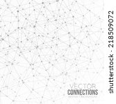 dots with connections ... | Shutterstock .eps vector #218509072