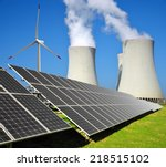 solar energy panels  wind... | Shutterstock . vector #218515102
