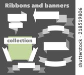 the collection of retro ribbons ... | Shutterstock .eps vector #218519806