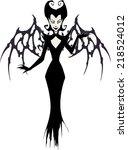 vampire queen  | Shutterstock .eps vector #218524012