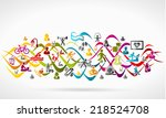 healthy life icon set | Shutterstock .eps vector #218524708