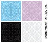 set of vintage seamless... | Shutterstock .eps vector #218527726