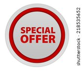 special offer circular icon on... | Shutterstock . vector #218535652