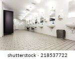 mens restroom in an public... | Shutterstock . vector #218537722