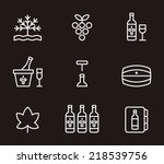 wine icons | Shutterstock .eps vector #218539756