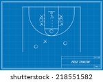 image of basketball free throw... | Shutterstock .eps vector #218551582