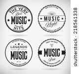 customizable retro music badges ... | Shutterstock .eps vector #218561338