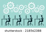 business man working process... | Shutterstock .eps vector #218562388