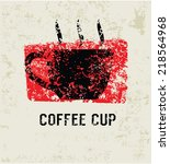 coffee grunge symbol clean...