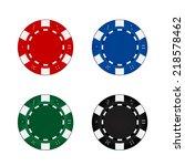 gambling chips set   Shutterstock .eps vector #218578462