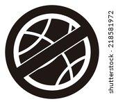black circle no playing or no... | Shutterstock . vector #218581972
