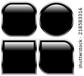 glossy black shape  button... | Shutterstock .eps vector #218583316