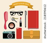 vector image content of woman's ...