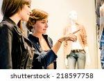women doing shopping | Shutterstock . vector #218597758