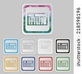 calculator vector business icon | Shutterstock .eps vector #218598196