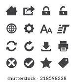 web icon   Shutterstock .eps vector #218598238