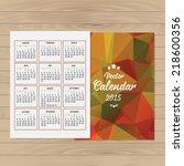 calendar 2015 design  english.... | Shutterstock .eps vector #218600356