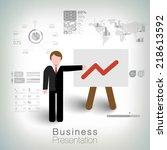 business succes concept design | Shutterstock .eps vector #218613592