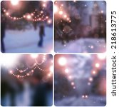 Christmas And New Year Blurred...
