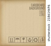 cardboard background. set of... | Shutterstock .eps vector #218614696