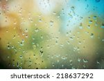 Rain Drops On Glass  Background