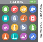 vector application cleaning... | Shutterstock .eps vector #218654686