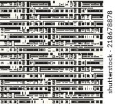abstract glitch textured modern ... | Shutterstock . vector #218678878