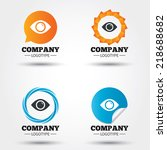 eye sign icon. publish content...   Shutterstock .eps vector #218688682