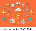 vector flat design style... | Shutterstock .eps vector #218692246