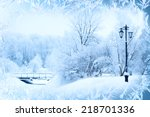 Winter Background  Landscape....