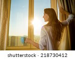 woman in the morning.... | Shutterstock . vector #218730412