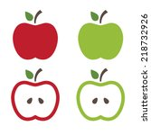 illustration of apples .vector | Shutterstock .eps vector #218732926