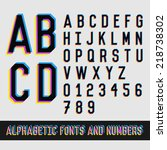 vintage alphabetic fonts and... | Shutterstock .eps vector #218738302