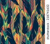 vector seamless pattern. bright ... | Shutterstock .eps vector #218741632