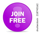 join free web icon  | Shutterstock . vector #218743162