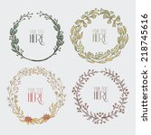 Hand Drawn Circle Floral Frames