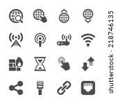 network icon set  vector eps10.