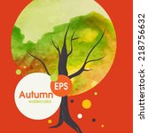 creative autumn background. ... | Shutterstock .eps vector #218756632