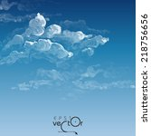 Cloud, Sky Painted Background. Vector Illustration. Eps 10 - stock vector