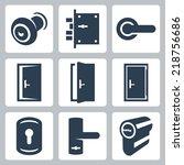 door and accessory equipment... | Shutterstock .eps vector #218756686