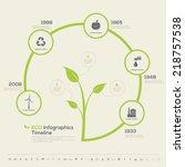 plant timeline infographic.... | Shutterstock .eps vector #218757538