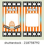 cinema tickets. invitation... | Shutterstock .eps vector #218758792