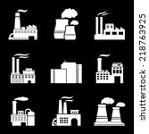 factory and power plants icons... | Shutterstock .eps vector #218763925