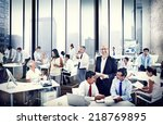 group of people in a meeting | Shutterstock . vector #218769895