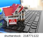 real estate agency online.... | Shutterstock . vector #218771122