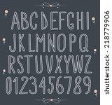handwritten font  hand drawn... | Shutterstock .eps vector #218779906