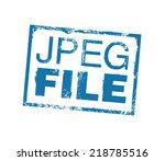 jpeg file mark. vector stamp | Shutterstock .eps vector #218785516